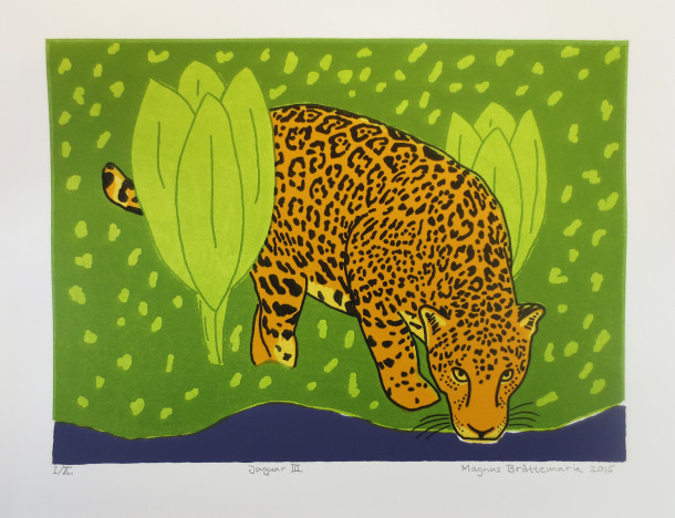 Jaguar 3, litografi, Magnus Brättemark