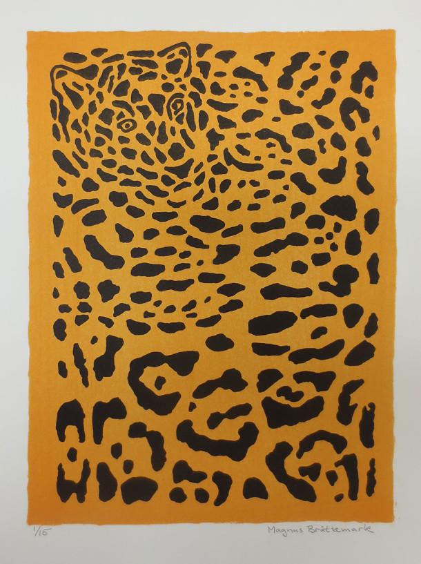Jaguar, litografi, Magnus Brättemark