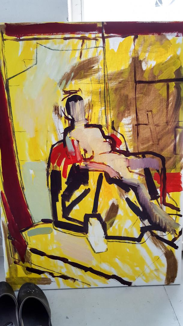 Målning av Martin Hansson